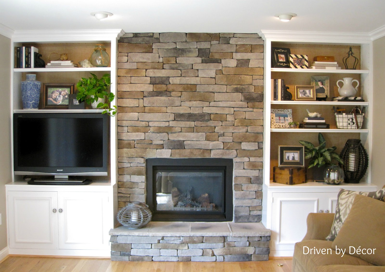 Built In Bookcases With Fireplace - OmahDesigns.NET