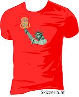 Lady Liberty plays Disc Golf