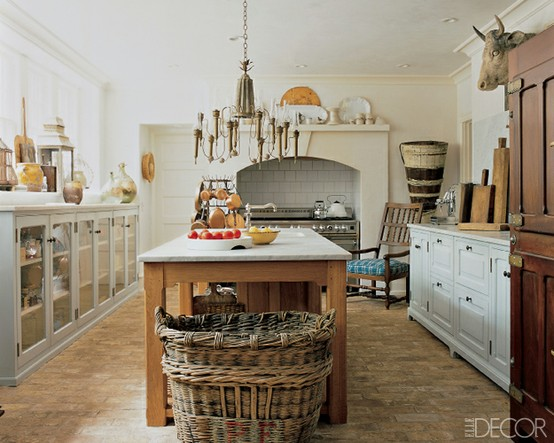 Rustic French Country Farmhouse Kitchen