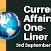Current Affairs One-Liner: 3rd September 2019