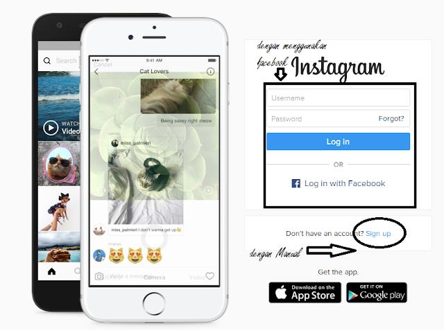 Daftar Akun Instagram Terbaru Via Facebook dan Manual