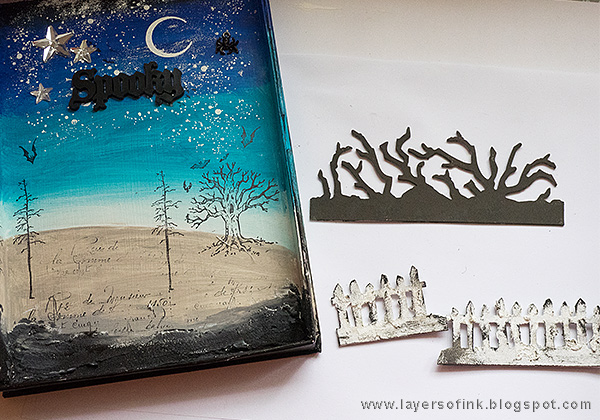Layers of ink - Halloween Shadow Box Tutorial by Anna-Karin with Tim Holtz Sizzix dies