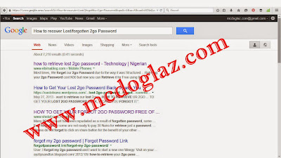 How to recover Lost/forgotten 2go Password