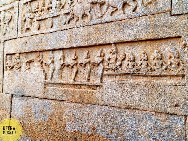 Ramayana Scenes in Hazar Ram Temple Hampi