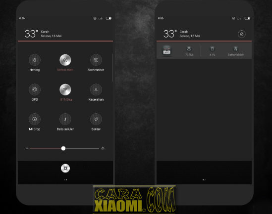 Download Tema Xiaomi Sobo Dark Mtz Full Material Themes -