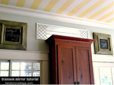 DIY Leaded Glass Transom Mirror Tutorial