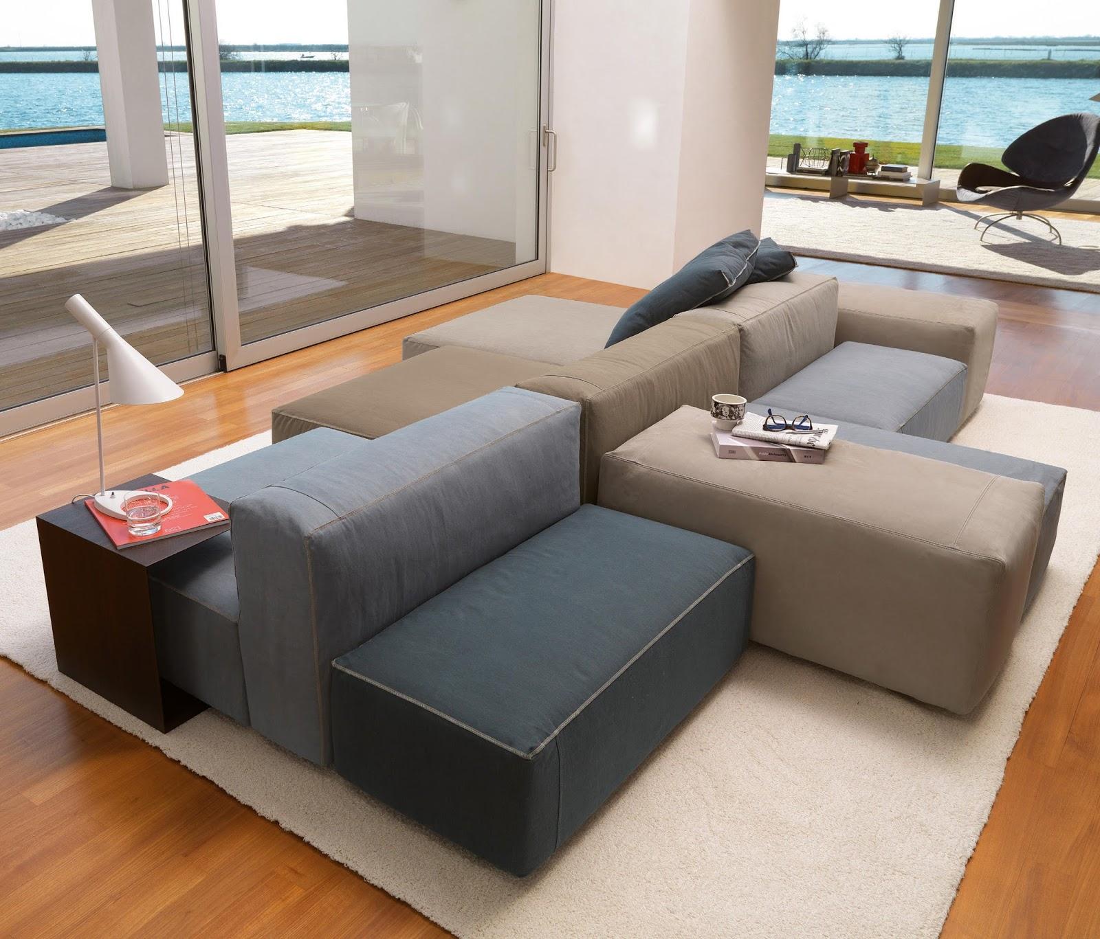 appunti di architettura: Divani componibili - interior design