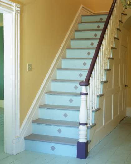 Painted Staircase: Divine Decor On A Dime: Inspirations For My Painted Staircase