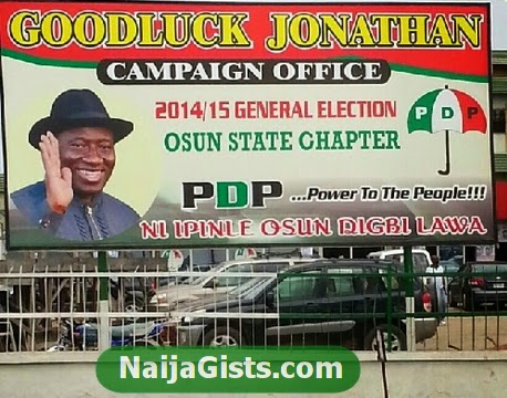 president jonathan 2015 campaign office