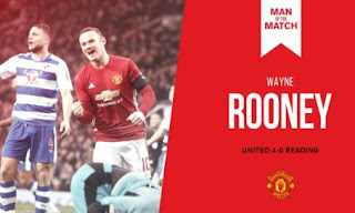 Rooney Man of the Match MU vs Reading 4-0