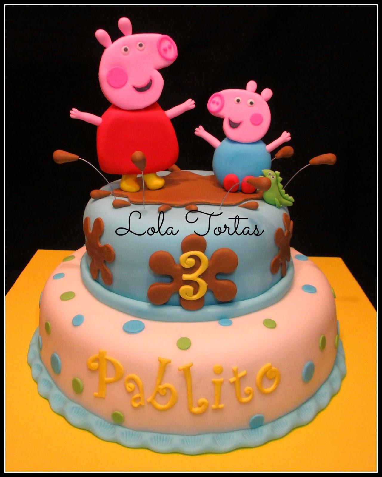 Lola Tortas: Torta de Peppa la cerdita y George Peppa Pig
