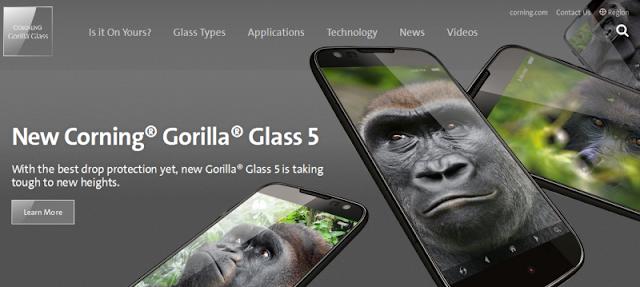 Corning Gorilla Glass, Pelindung Layar Smartophone