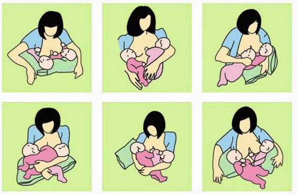 Beberapa Posisi Memberi ASi - 7 Cara Menyusui Bayi Kembar Baru Lahir Secara Bersamaan Yang Baik dan Benar