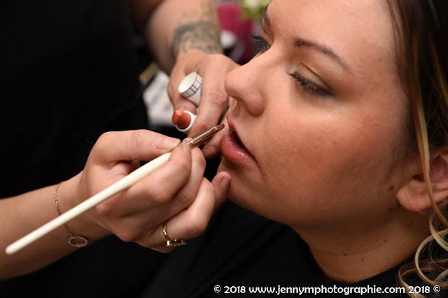 rouge à lèvre de la mariée, photo maquillage