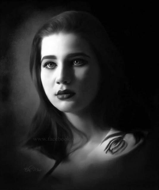 صور ورسومات بالرصاص ولوحات زيتية ل مريم فخر الدين