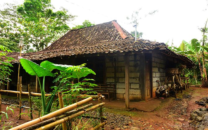 Salah satu rumah warga di Kampung Pitu Nglanggeran