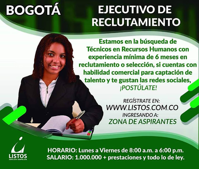 Ejecutivo de Reclutamiento en Bogota