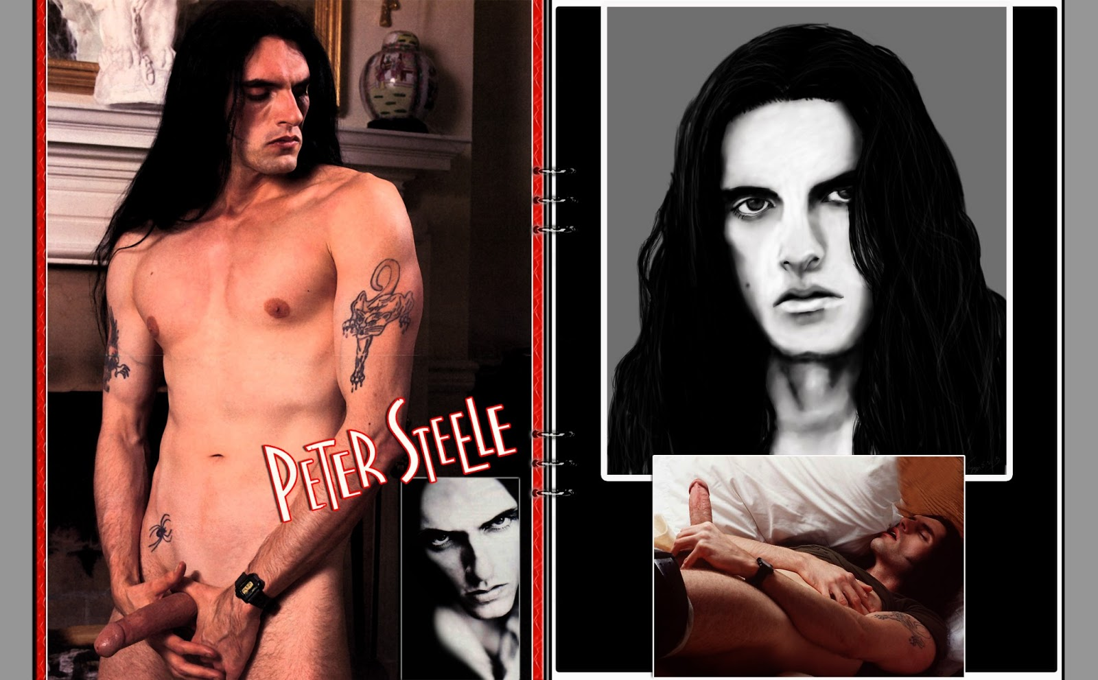 Peter steele autographed playgirl cover typeo carnivore