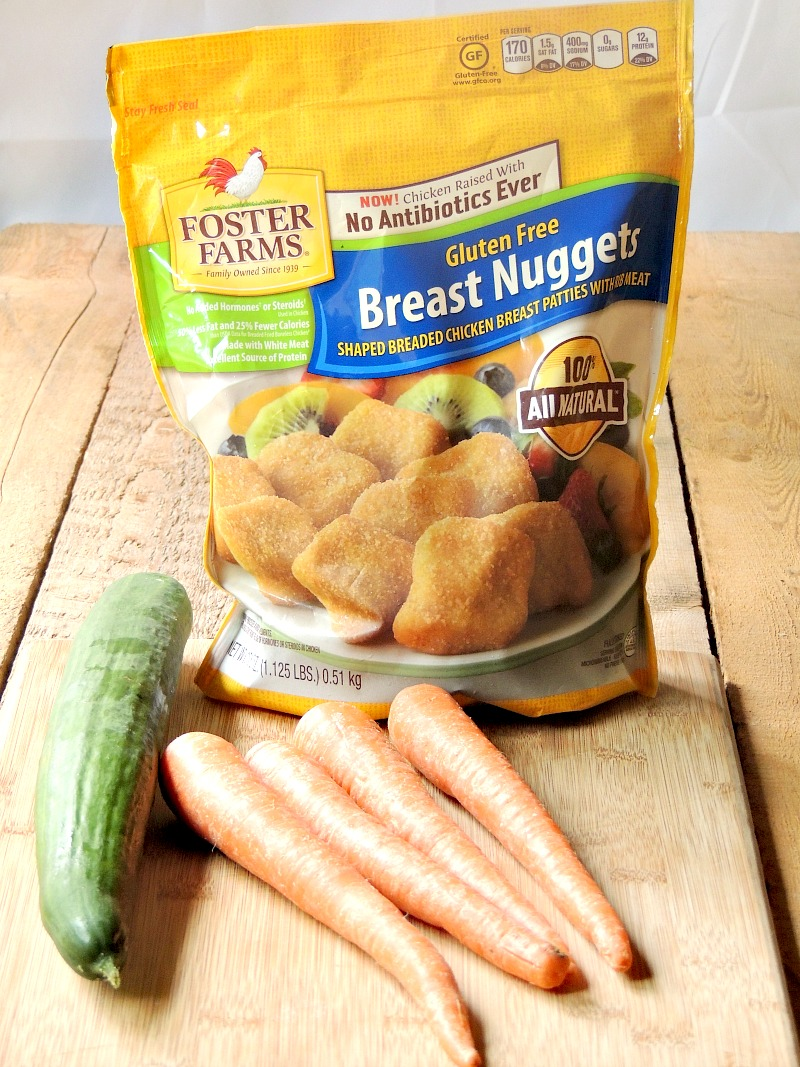 Chicken Nuggets with Fun Veggies | Easy After School Snacking - Afterschool snacking doesn't have to be hard. You can't go wrong with gluten-free all white meat chicken nuggets and some veggies cut into cute shapes! An easy peasy snack you can feel good about giving to your kiddos. #afterschool #healthy #easy #snacking #kids | bobbiskozykitchen.com