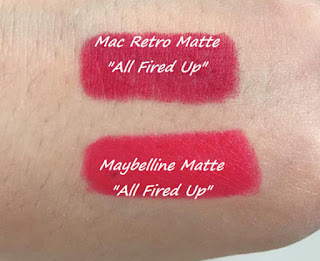 mac all fired up dupe maybelline