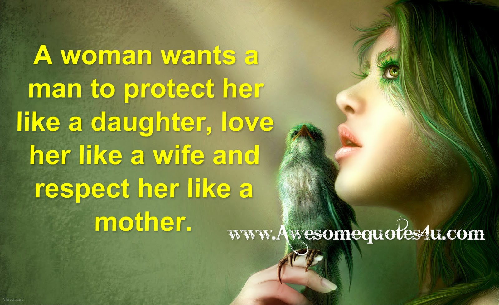 What A Woman Wants From A Man Quotes: Awesome Quotes: A Woman Wants A Man To Protect, Love And