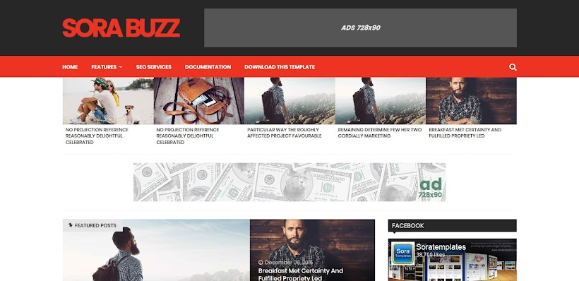 Sora Buzz Free Blogger Template