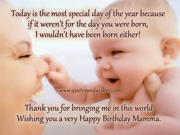 Happy Birthday Mom Quotes From Son In Hindi: Funny-love-sad-birthday Sms: Birthday Wishes To Mom