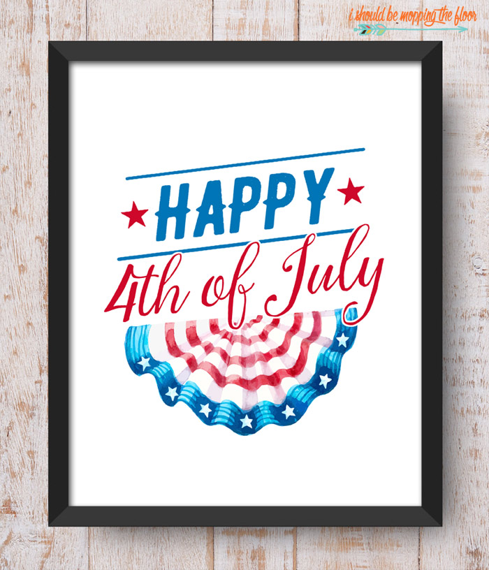 Happy 4th of July Printable