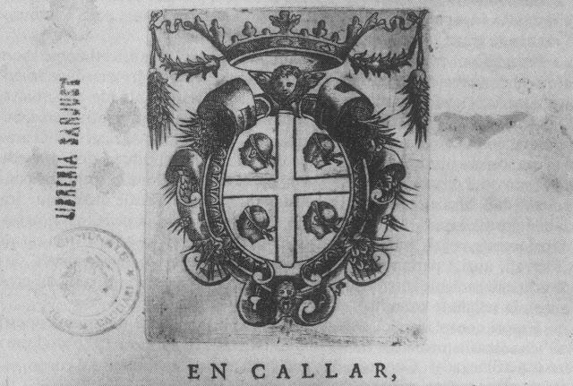 Els Quatre Moros als capítols de Cort de l'estament militar de Sardenya