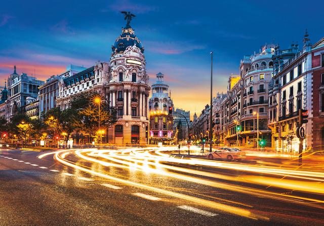 Gran Via em Madri