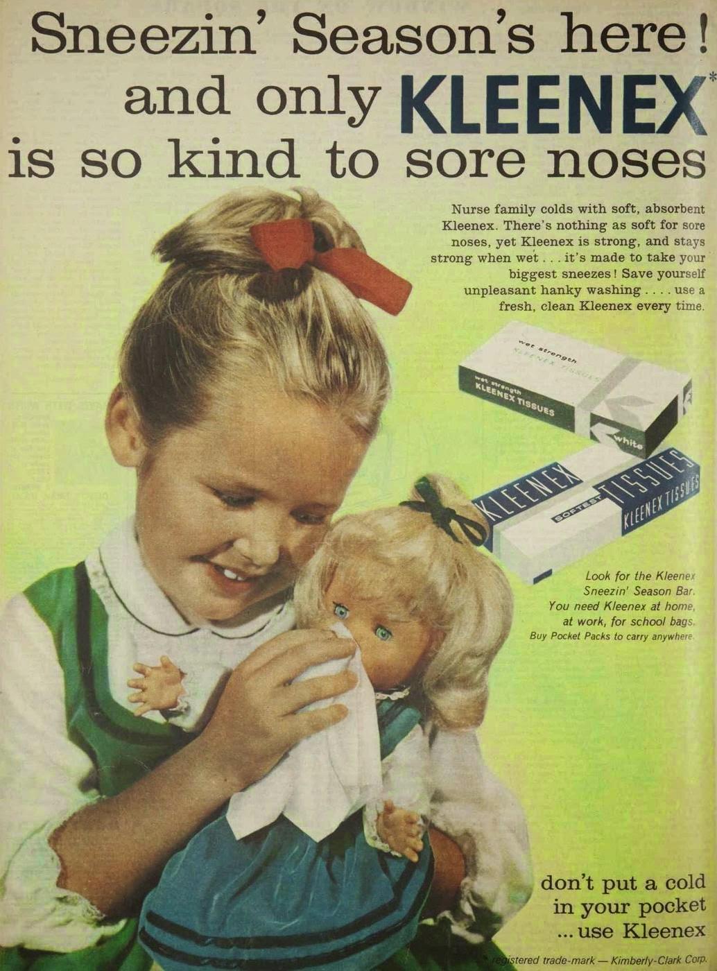 vintage kleenex tissue ad
