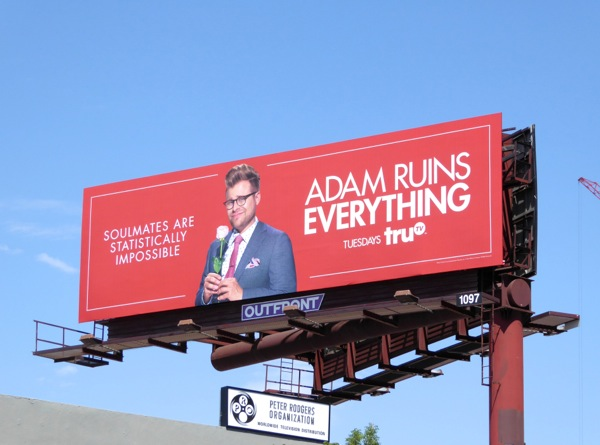 Adam Ruins Everything Soulmates statistically impossible billboard