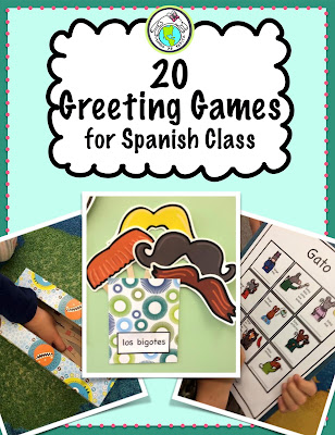 20 greeting games for Spanish class