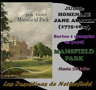 Sorteo Mansfield Park [Las inquilinas de Netherfield]