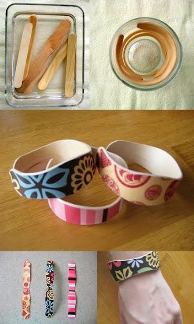 palitos de helado, popsicle, bracelets, pulseras, manualidades