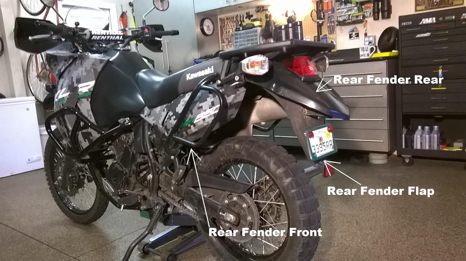 Kawasaki Rear Fender Removal