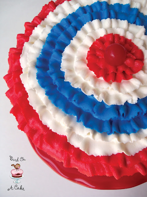 Red, White and Blue Ruffled Bunting Cake - Edible Crafts