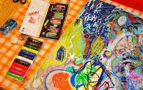 giant family process art- great open-ended activity for the whole family!