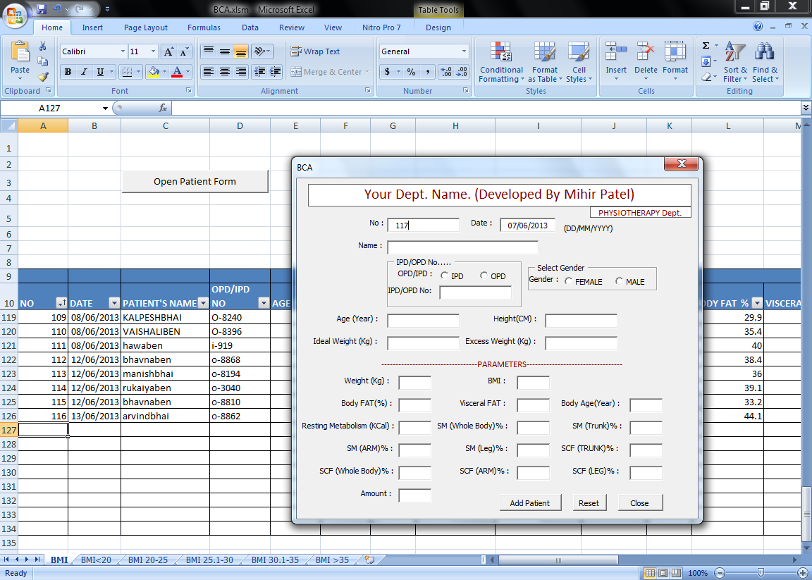 Er Mihir Patel Add Data Into Excel With Vba Form