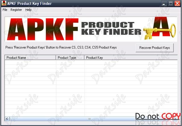 APKF Product Key Finder V1.6.1.0