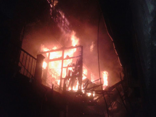 Fire Breaks Out At Shyam Brothers Line Darjeeling