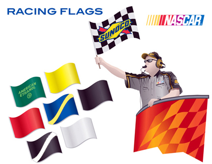 #NASCAR Race Flags