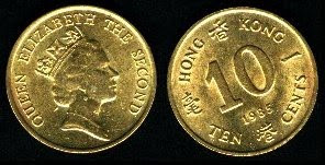 Hong Kong  10 Cents (1985-1992) 1990