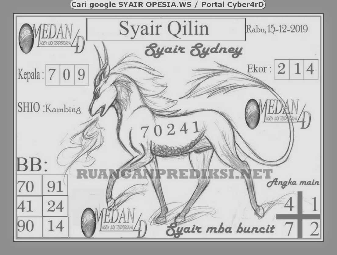 Kode syair Sydney Rabu 15 Januari 2020 104