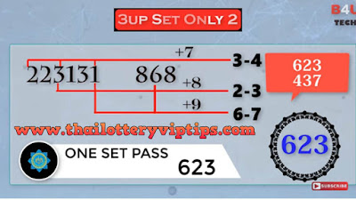 Thai Lottery Total Calculation 3UP Set