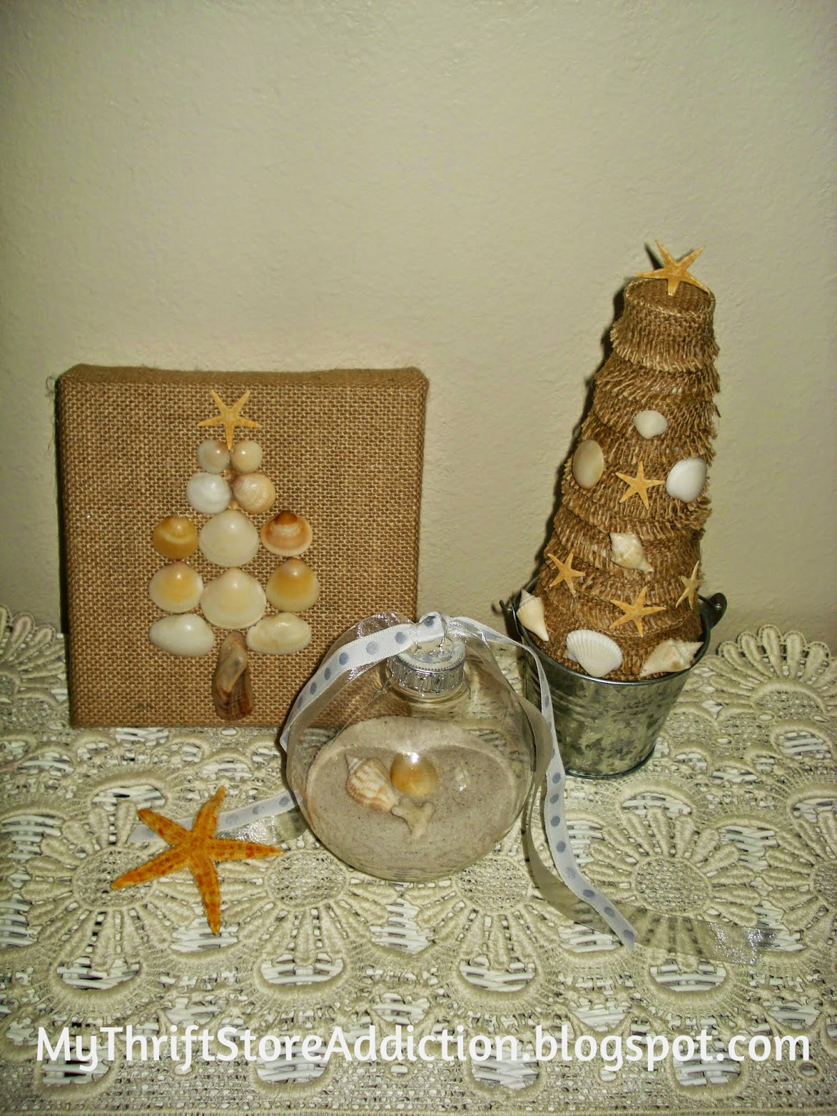 Beachy Christmas crafts