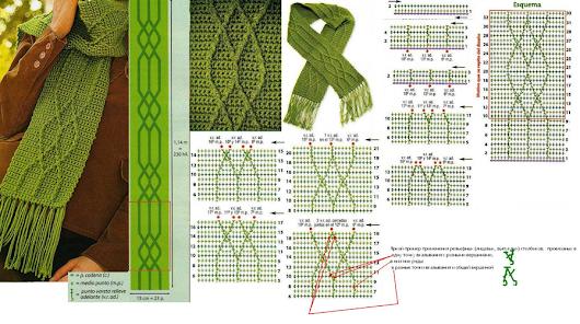 aqui les dejo unos patrones para hacer unas lindas bufandas para ...