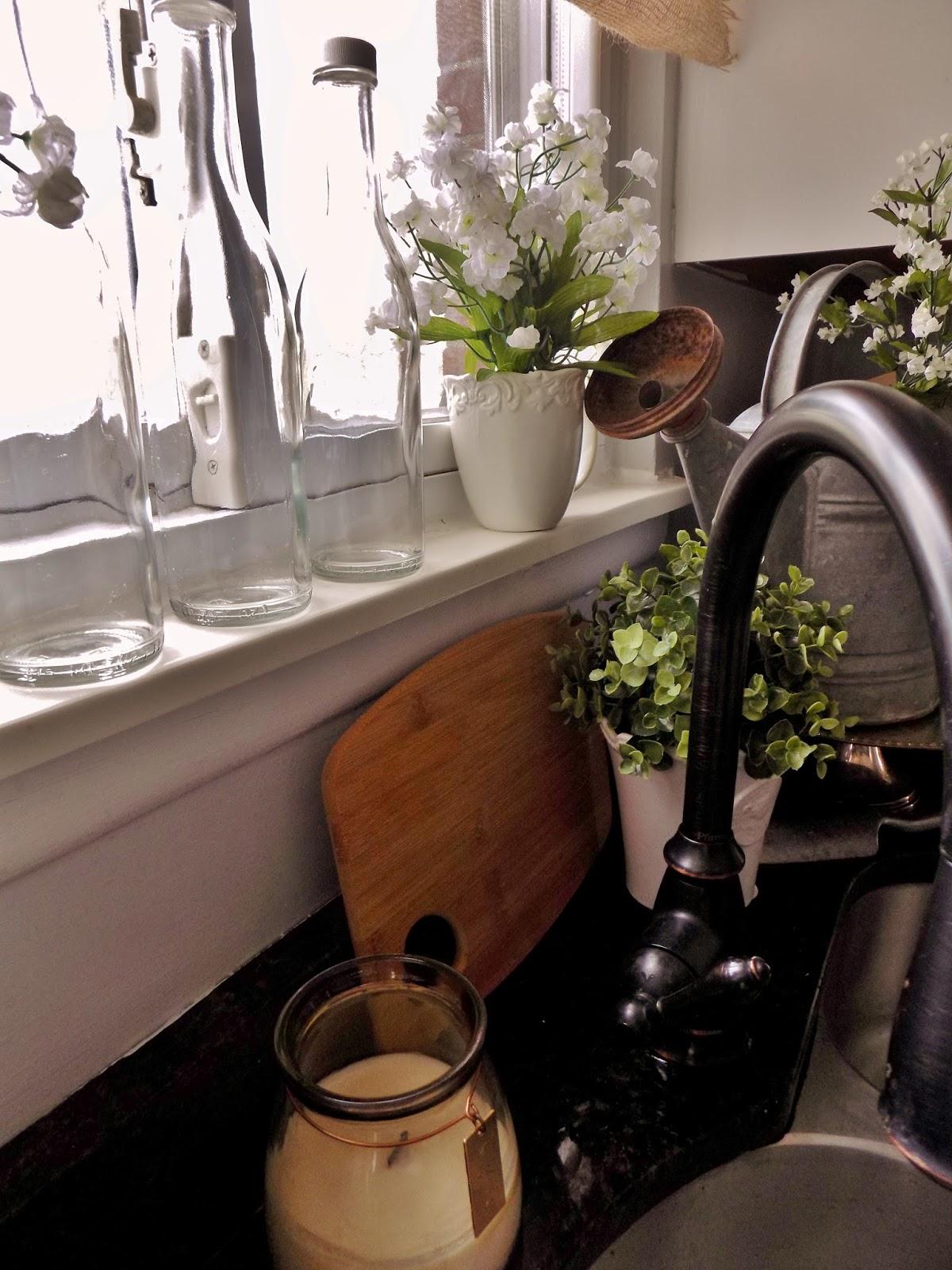 The Quaint Sanctuary: { Farmhouse & Kitchen Counter Decor ... on Farmhouse Kitchen Counter Decor Ideas  id=53716