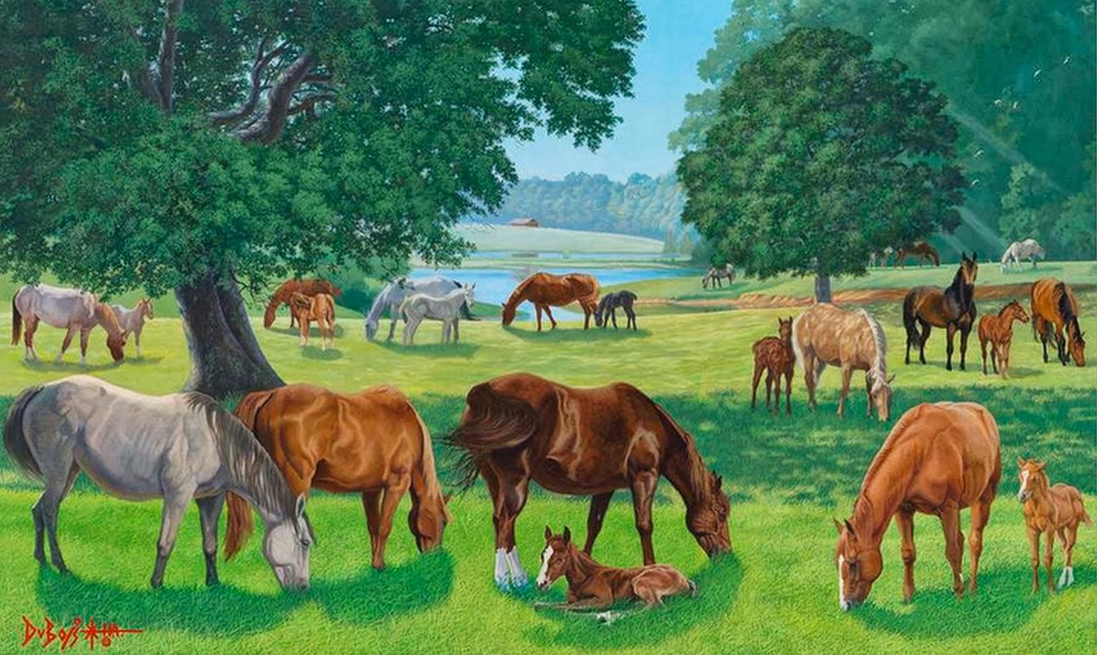 Paisajes De Animales: Cuadros Modernos Pinturas Y Dibujos : 10/18/13