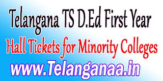 Telangana TS D.Ed First Year Hall Tickets for Minority Colleges